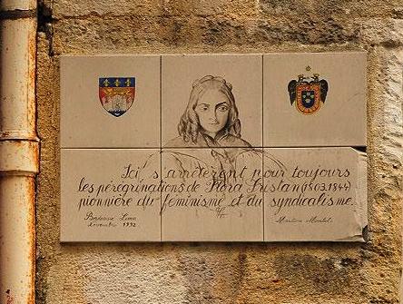 Homenaje a Flora Tristán en Burdeos