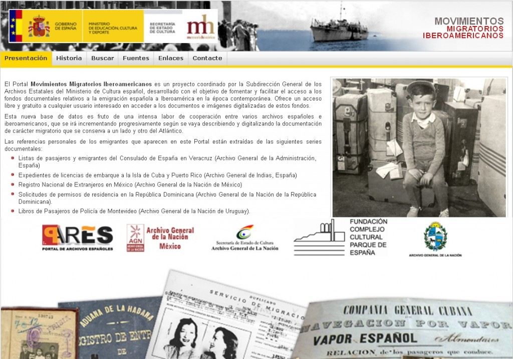 Movimientos migratorios iberoamericanos - Portal Pares