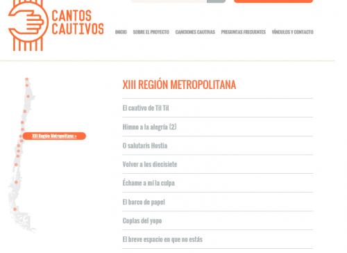 Canciones Web Cantos Cautivos