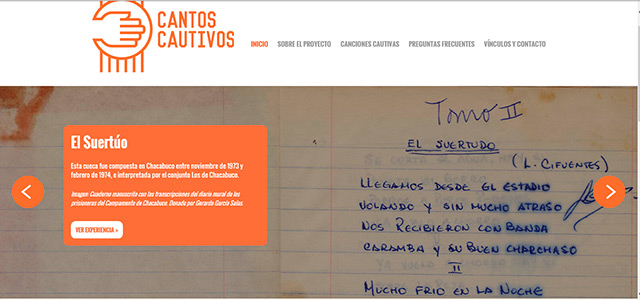 Web Cantos Cautivos