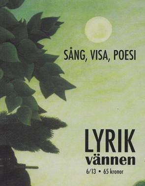 revista poesia suecia lyrikvannen 2013 número 6