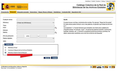 Catálogo colectivo de la red de Bibliotecas de Archivos Estatales